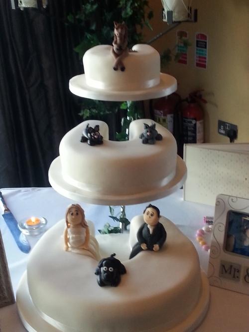 Erica & Dave's Wedding Cake
